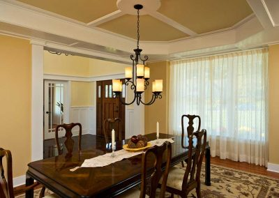 Coffered ceiling details were adding to the formal dining room.